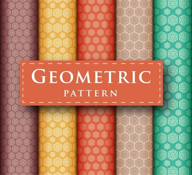 Zestaw abstrakcyjny wzór geometryczny luksusowy wzór bez szwu