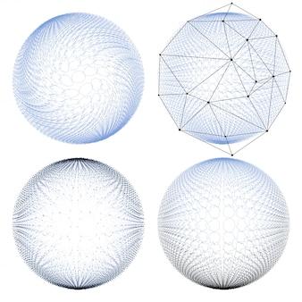 Zestaw abstrakcyjnych cząsteczek