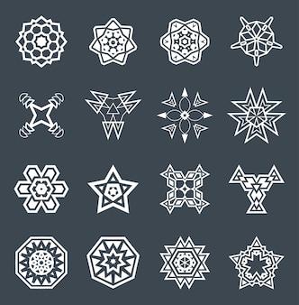 Zestaw abstrakcyjnych elementów geometrycznych