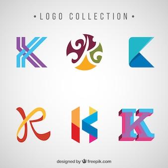 Zestaw abstrakcyjnych litery