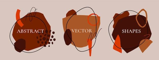 Zestaw abstrakcyjnych nowoczesnych banerów
