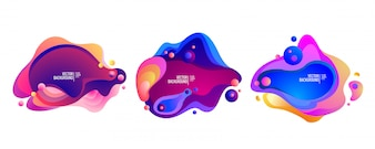 Zestaw abstrakcyjnych płynnych nowoczesnych elementów graficznych