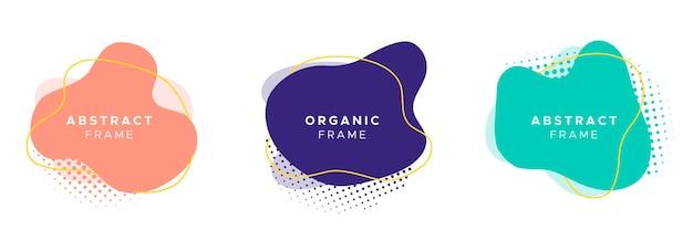 Zestaw abstrakcyjnych ramek organicznych