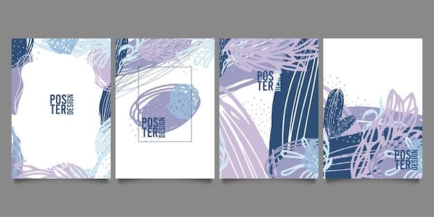 Zestaw abstrakcyjnych szablonów kreatywnych.