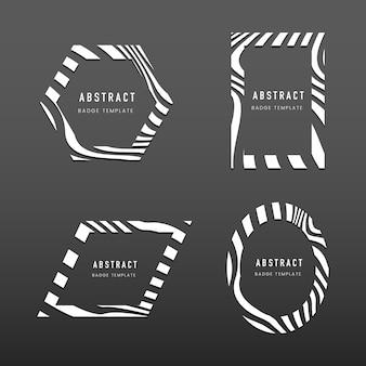 Zestaw abstrakcyjnych szablonów wektory odznaka
