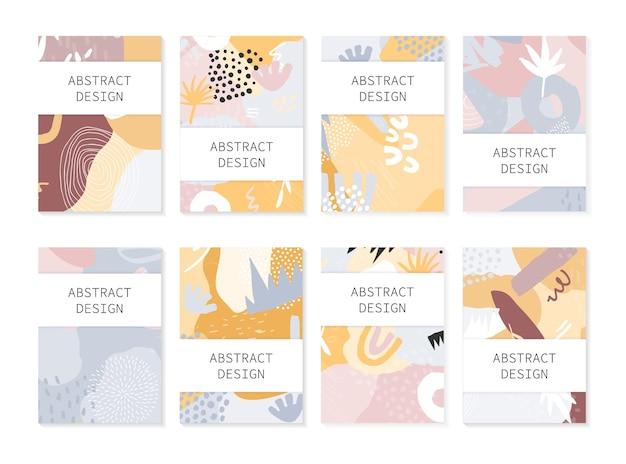 Zestaw abstrakcyjnych tła