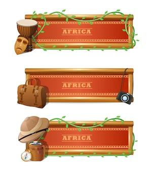 Zestaw afrykańskich banerów