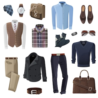 Zestaw akcesoriów biznesowych moda mężczyzna