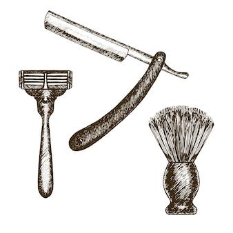 Zestaw akcesoriów do golenia w stylu vintage