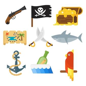 """Zestaw akcesoriów do zabawek """"skarby piratów""""."""