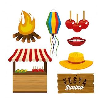 Zestaw akcesoriów festa junini na uroczystości