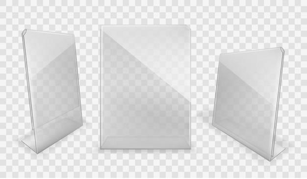 Zestaw akrylowych wyświetlaczy stołowych