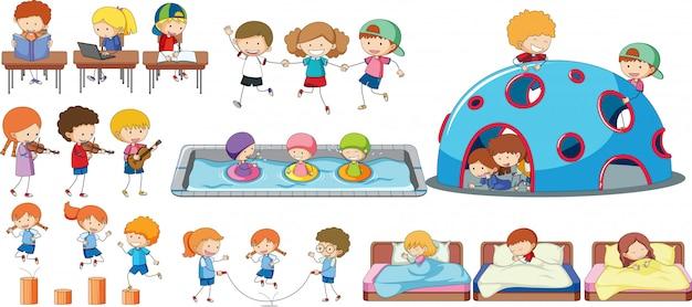 Zestaw aktywności dzieci