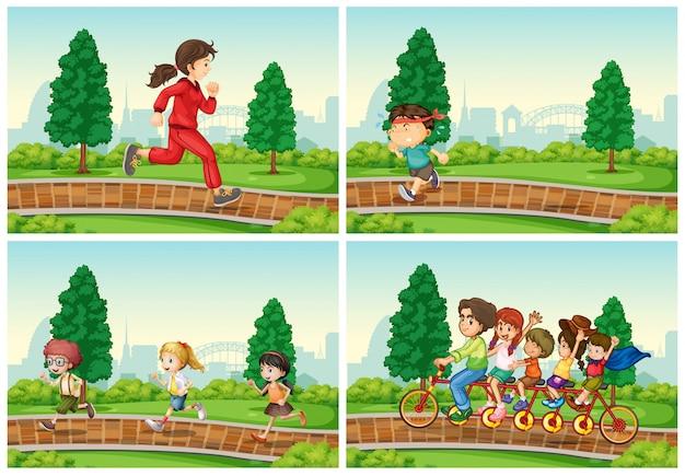 Zestaw aktywności w parku