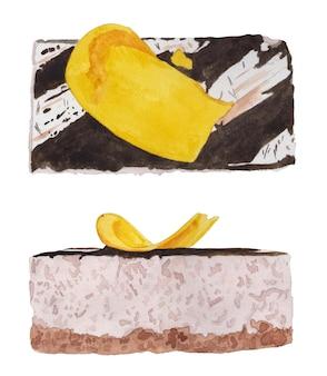 Zestaw akwareli bananowych