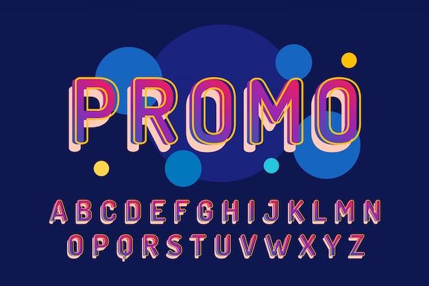 Zestaw alfabet nowocześnie zdobione promocja