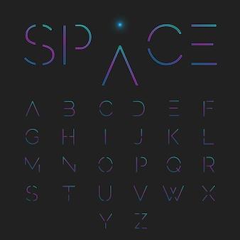 Zestaw alfabet typograficzny