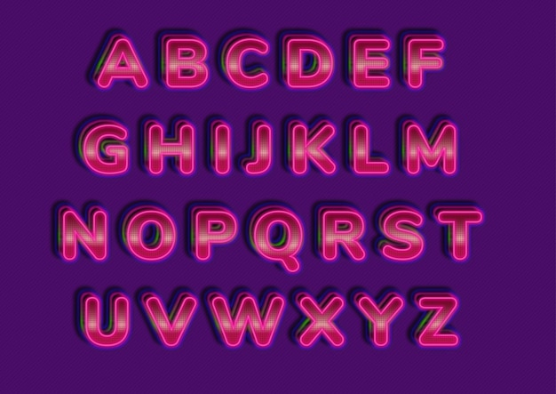 Zestaw alfabetów stylu futurystycznej technologii