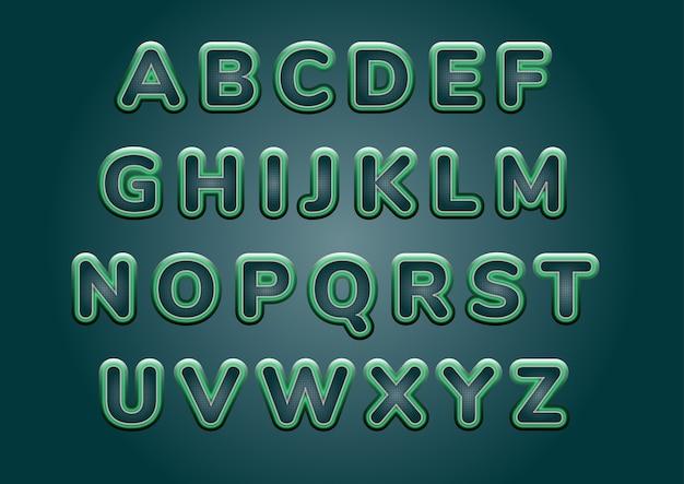 Zestaw alfabetów technologii cyfrowej matrycy