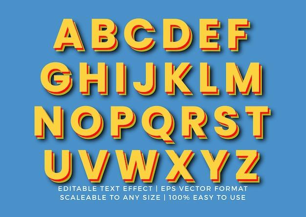 Zestaw alfabetu 3d