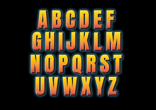 Zestaw alfabetu pogrubionej czcionki