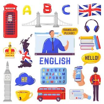 Zestaw angielskich elementów