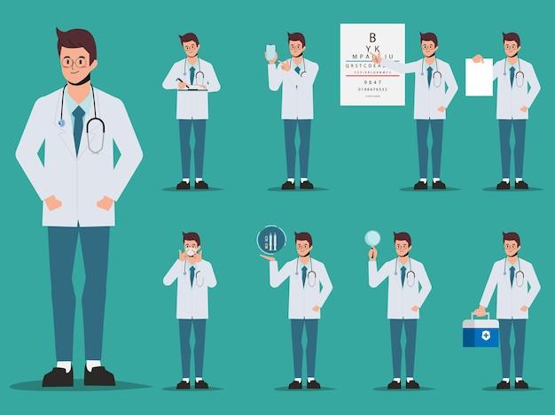 Zestaw animacji lekarza