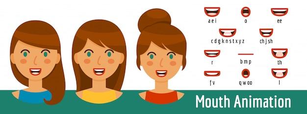 Zestaw animacji usta