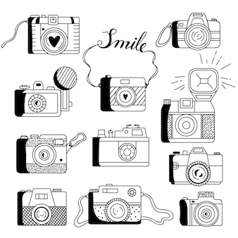 Zestaw aparatów fotograficznych