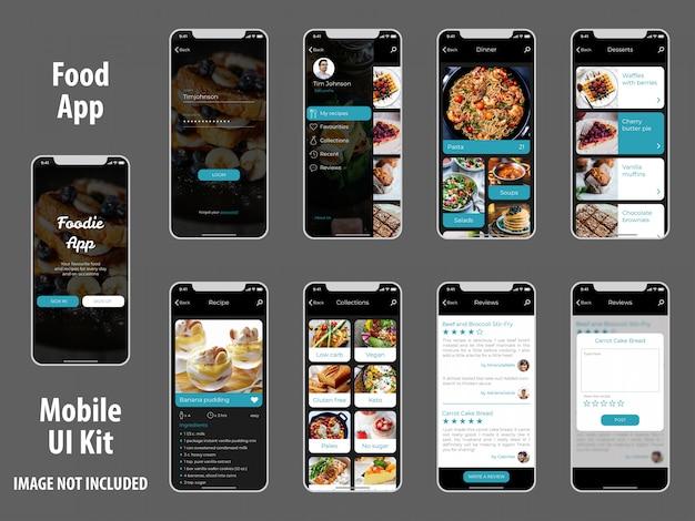 Zestaw aplikacji app przepisy kulinarne