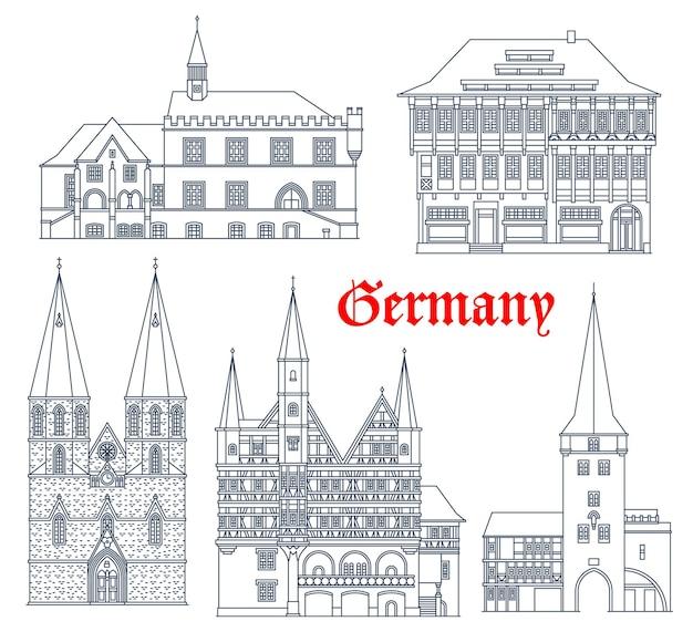Zestaw architektury zabytków niemiec