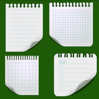 Zestaw arkuszy papieru podarte