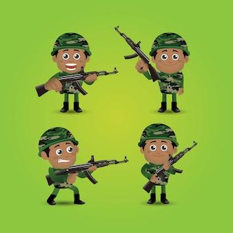 Zestaw armii zawodu ludzi