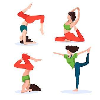 Zestaw asan jogi