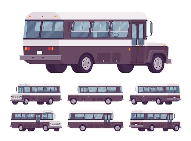 Zestaw autobusów retro
