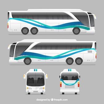 Zestaw autobusowy z różnymi perspektywami