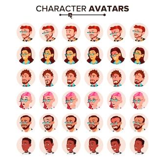 Zestaw avatar ludzi.
