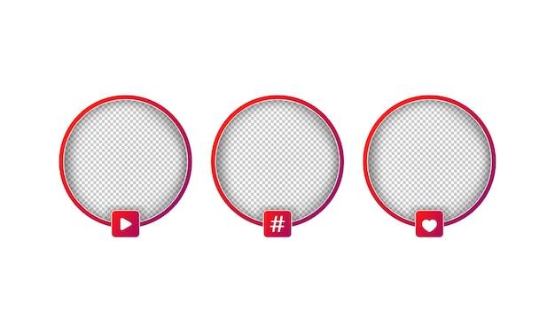 Zestaw awatarów mediów społecznościowych. transmisje na żywo, np. obserwujący, bloger.