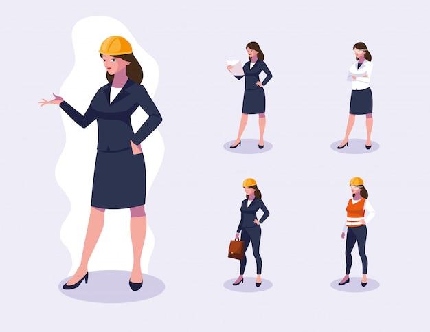 Zestaw awatarów profesjonalnych pracowników