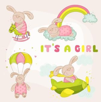Zestaw baby bunny baby shower
