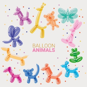 Zestaw balonów zwierząt