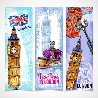 Zestaw baner londyn