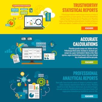 Zestaw banerów analizy danych