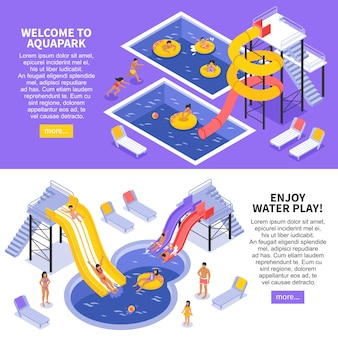 Zestaw banerów aqua park