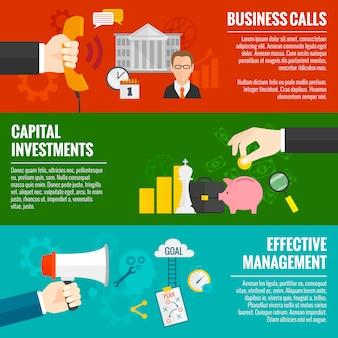 Zestaw banerów biznesowych
