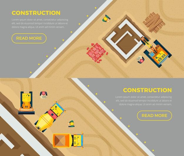 Zestaw banerów budowlanych