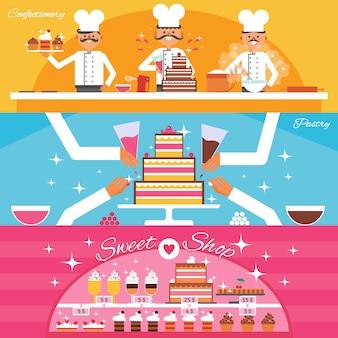 Zestaw banerów cukierniczych