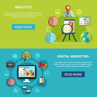 Zestaw banerów digital analytics