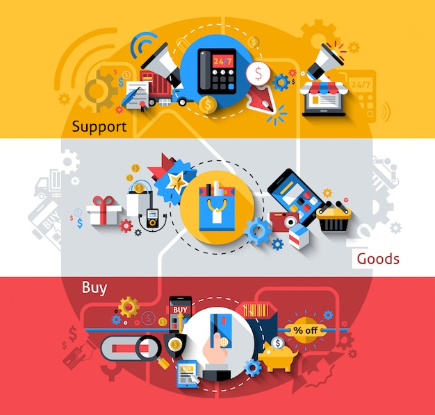 Zestaw banerów e-commerce
