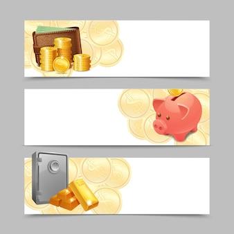 Zestaw banerów finansowych
